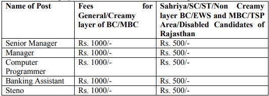 Rajasthan Cooperative Bank Recruitment 2019