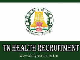 TN Health Recruitment 2019