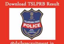 TSLPRB PC Result 2019