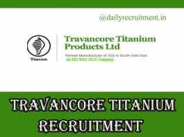 Travancore Titanium Recruitment 2019