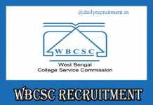 WBCSC Recruitment 2019