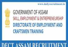 DECT Assam Recruitment 2019