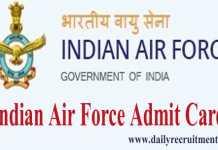 IAF Airmen Admit Card 2019