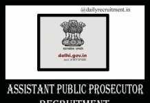 Assistant Public Prosecutor Recruitment 2019