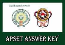 APSET 2019 Answer Key