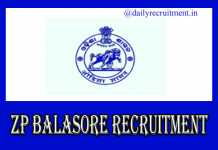 Zilla Parishad Balasore Recruitment 2019