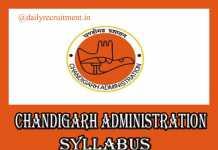 Chandigarh Administration Clerk Syllabus 2019