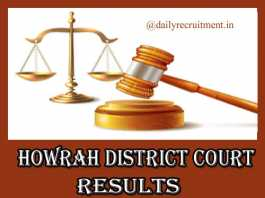 Howrah District Court Results 2019