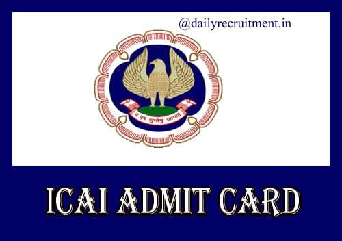 ICAI Nov Admit Card 2020