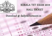 KTET Exam Hall Ticket 2019