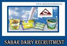 Sabar Dairy Recruitment 2019