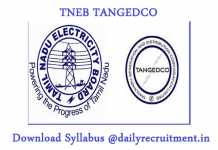 TNEB TANGEDCO Gangman Syllabus 2019