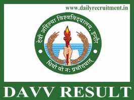 DAVV Result 2019