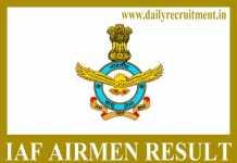 IAF Airmen Result 2019