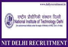NIT Delhi Recruitment 2020