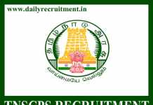 TNSCPS Recruitment 2019