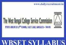WBSET Syllabus 2019