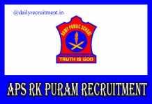 APS RK Puram Recruitment 2019