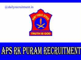 APS RK Puram Recruitment 2019