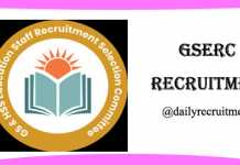 GSERC Recruitment 2019