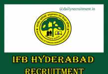 IFB Hyderabad Recruitment 2020