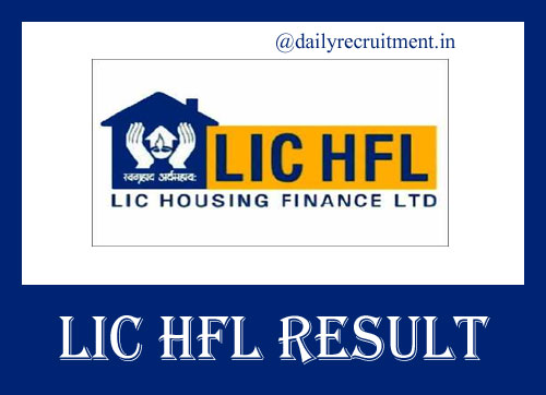 LIC HFL Assistant Manager Result 2019