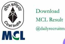 MCL Result 2019