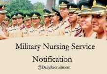 Military Nursing Notification 2019