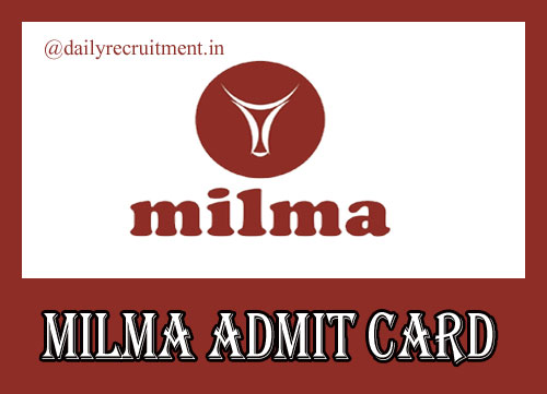 MILMA Admit Card 2019