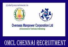 OMCL Chennai Recruitment 2019