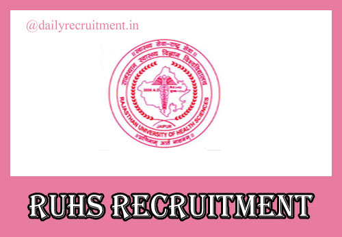 RUHS Recruitment 2020