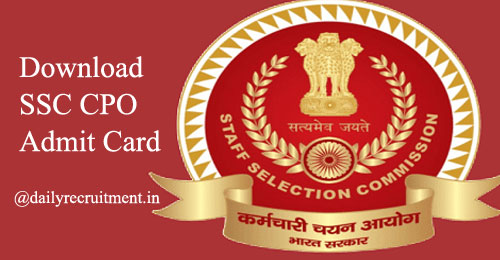 SSC CPO Admit Card 2019
