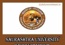 Saurashtra University Recruitment 2019
