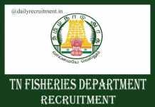 TN Fisheries Department Recruitment 2019