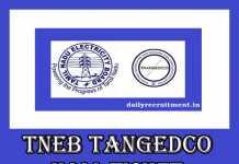 TNEB TANGEDCO Gangman Physical Test Hall Ticket 2019