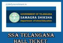 SSA Telangana Hall Ticket 2019
