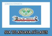 SSA Telangana Syllabus 2019