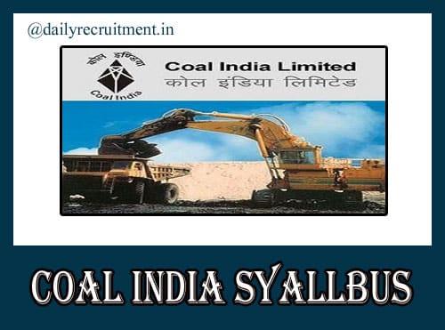Coal India MT Syllabus 2020