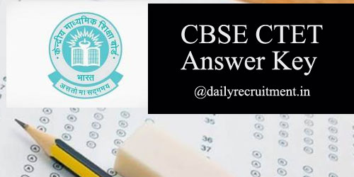 CBSE CTET Answer Key 2019
