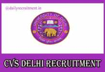 CVS Delhi Recruitment 2019