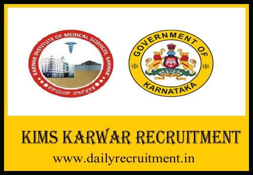 KIMS Karwar Recruitment 2020