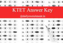 KTET Answer Key 2019