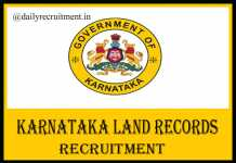 Karnataka Land Records Recruitment 2020