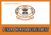 Punjab Health Recruitment 2019