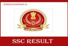 SSC Selection Posts Result 2020
