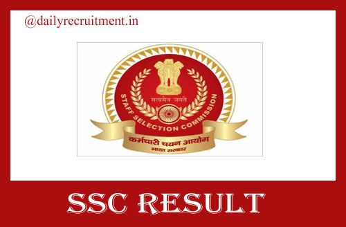 SSC CPO Paper 1 Result 2021