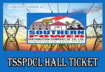 TSSPDCL JLM Hall Ticket 2019