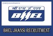 BHEL Jhansi Recruitment 2020