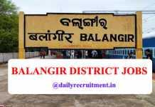 Balangir District Jobs 2020