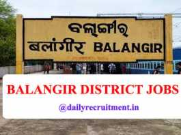 Balangir District Jobs 2020